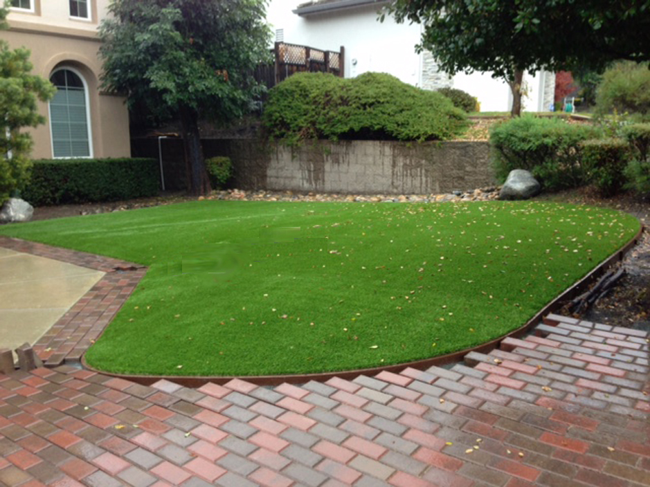 Faux grass american canyon california landscape design for Using grasses in garden design