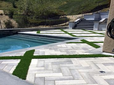 Artificial Grass Photos: Synthetic Grass Kenwood, California Lawns, Backyard Pool