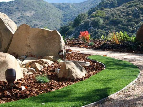 Synthetic Turf Opal Cliffs, California Landscape Design, Front Yard Landscaping artificial grass